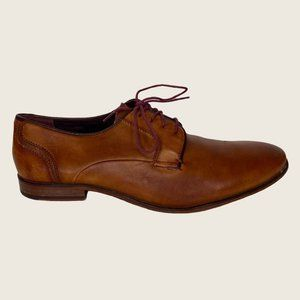 Ted Baker Iront Cognac Leather Lace Up Dress Shoes